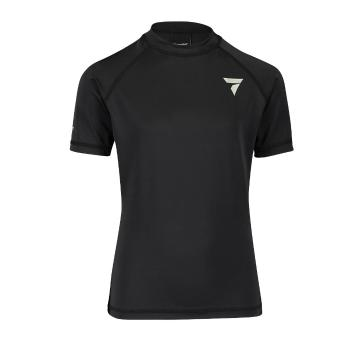 Torpedo7 Youth Coast Short Sleeve Rash Top - Black - Black/Black
