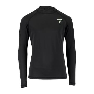 Torpedo7 Youth Coast Long Sleeve Rash Top - Black - Black/Black