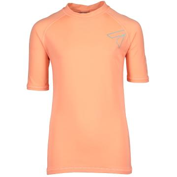 Torpedo7 Mystic Short Sleeve Rash Top - Neon Coral