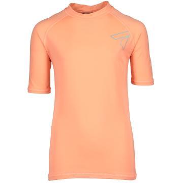 Torpedo7 Mystic Short Sleeve Rash Top - Neon Coral