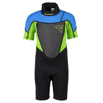 Torpedo7 Kids Boys Evo 2/2 Spring Suit  - Black/Blue