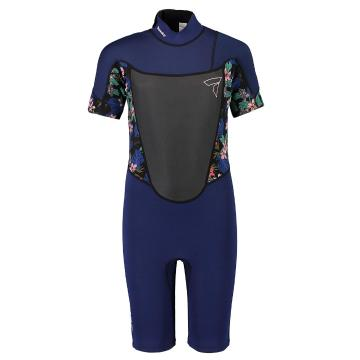 Torpedo7 Youth Girl's Evo 2/2 Spring Suit  - Navy/Floral
