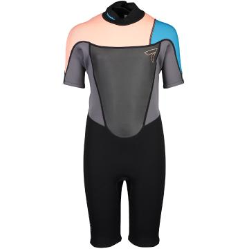 Torpedo7 Youth Girls Evo 2/2 Spring Suit - Black/Neon Coral