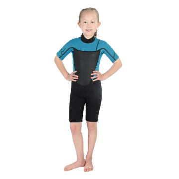 Torpedo7 Junior Girl's Evo 2/2 Spring Suit - 2/8 Years - Black/Light Blue