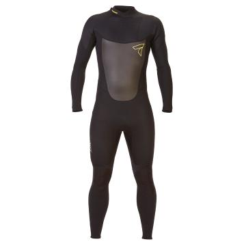 Torpedo7 Men's Evo 3.2 Long Sleeve Steamer Wetsuit - Black/Black