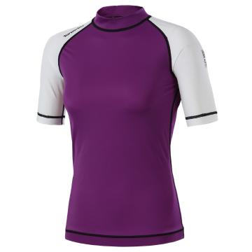 Torpedo7 Women's Mystic Short Sleeve Rash Shirt - Berry/White