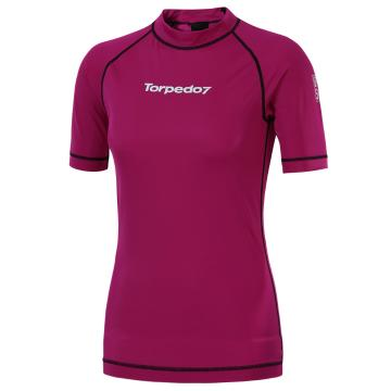 Torpedo7 Women's Mystic Short Sleeve Rash Shirt - Fuschia