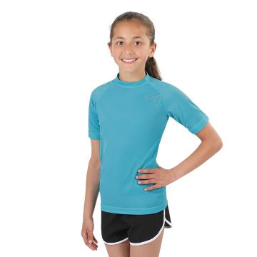 Torpedo7 Girl's Mystic Short Sleeve Rash Top - 8/16 Years