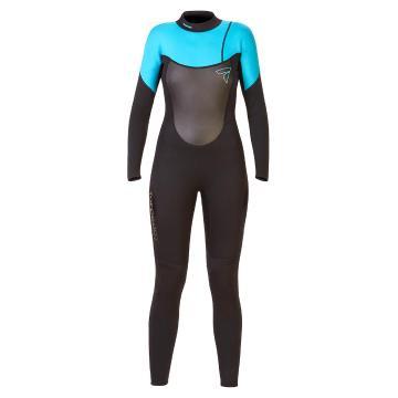 Torpedo7 Women's Evo 3.2 Long Sleeve Steamer Wetsuit - Black/Teal
