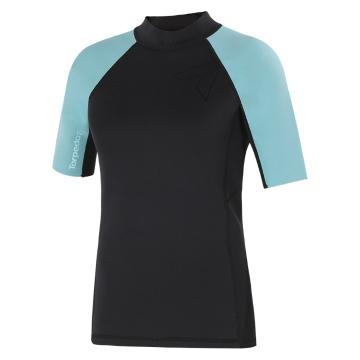 Torpedo7 Women's Gamma Neo Stretch Short Sleeve Top - Black/Sky Blue