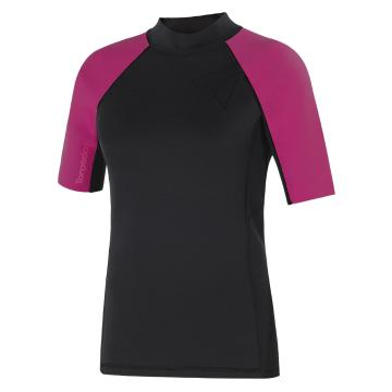Torpedo7 Women's Gamma Neo Stretch Short Sleeve Top - Black/Pink
