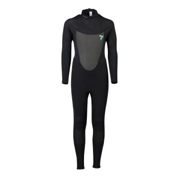 Torpedo7 Youth Girls Evo 3.2 Long Sleeve Steamer Wetsuit - Black/Blk Palm