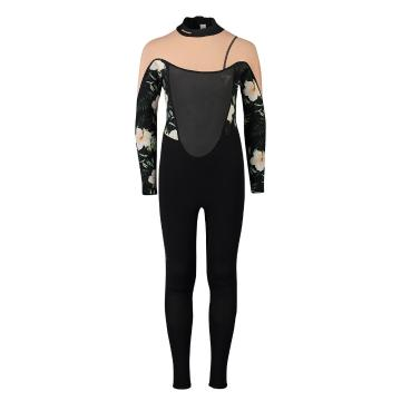 Torpedo7 Youth Girls Evo 3.2 Long Sleeve Steamer Wetsuit - Blk/Coral/Floral