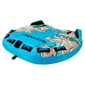 Torpedo7 2021 Aqua Max 3 Person Towable Tube - Blue/Green