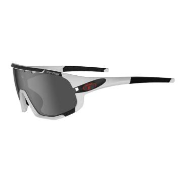 Tifosi Men's Sledge Sunglasses  - MatteWhite,Smoke/ACRed/Clear