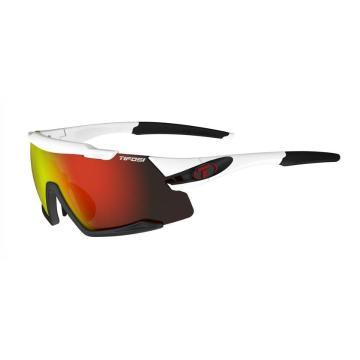 Tifosi Men's Aethon Sunglass - White/Black, ClarionRed/ACRed/Clear