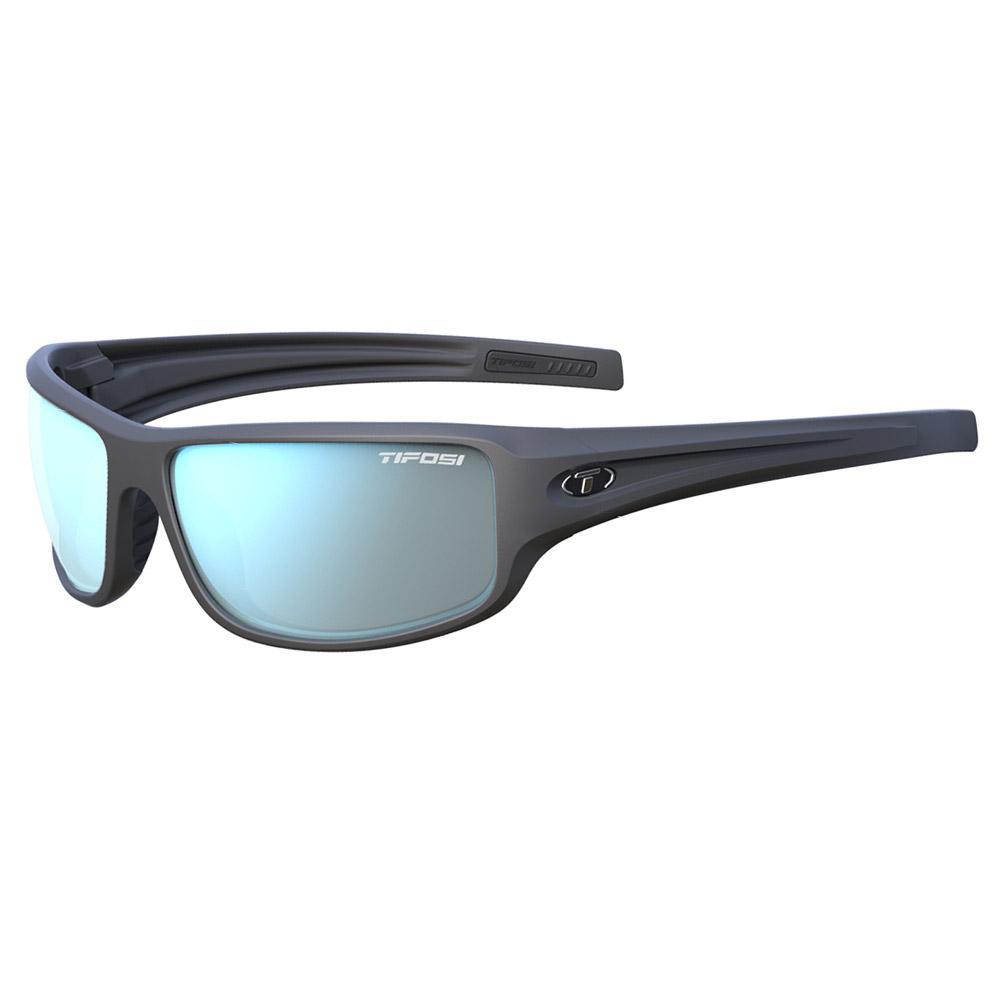 Bronx Sunglasses - Matte Gunmetal, Smoke Bright Blue Lens