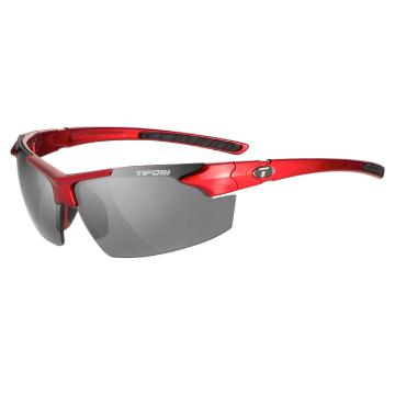 Tifosi Jet FC Sunglasses - Metallic Red, Smoke Lens