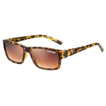 Tifosi Hagen Sunglasses - Leopard, Brown Gradient Lens