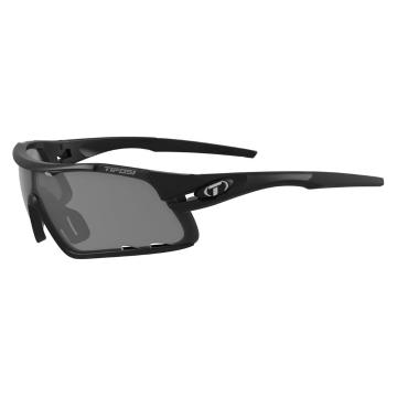 Tifosi Davos Sunglasses - Matt Black/Smoke/AC Red/Clear
