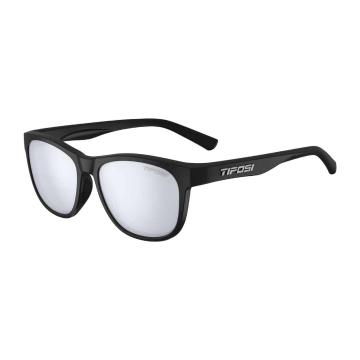 Tifosi Swank Sunglasses - SatinBlk,SmokeBrightBluLens