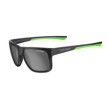 Tifosi Swick Sunglasses - SatinBlk,SmokeBrightBluLens