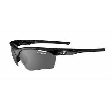 Tifosi Vero Sunglasses - GlossBlk,Smke/ACRed /ClrLens