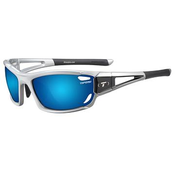 Tifosi Dolomite 2.0 Sunglasses - Silver/Blue with Spare Lenses - Met Silver, Smk Blue/AC Red/Cl
