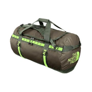 The North Face Base Camp Duffel Gear Bag - 69L Medium - Black Ink Green/Paradise Green