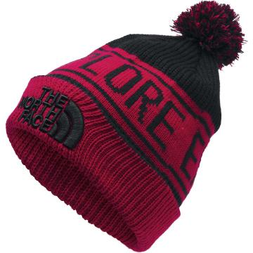 The North Face Men's Retro Pom Beanie - TNF Blk/TNF Red