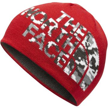The North Face Youth Anders Beanie - TNF Red/Asphalt Grey Camo