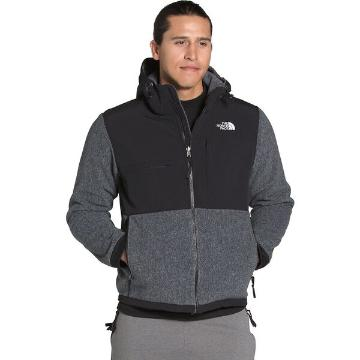 The North Face Men's Denali 2 Hoodie  - Charcoal Grey Heather