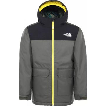 The North Face Boys Freedom Insulated Jacket - New Taupe Green/Lightning Yell