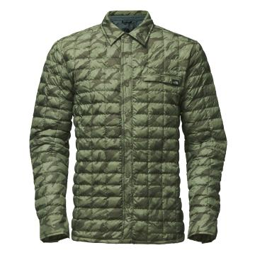 The North Face TNF Mens Reyes Thermoball Shirt Jkt  - DLchnGrn/MkrMntPrnt