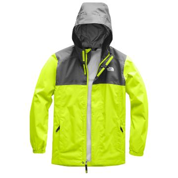 The North Face Boys Resolve Reflective Jacket - Lime Green