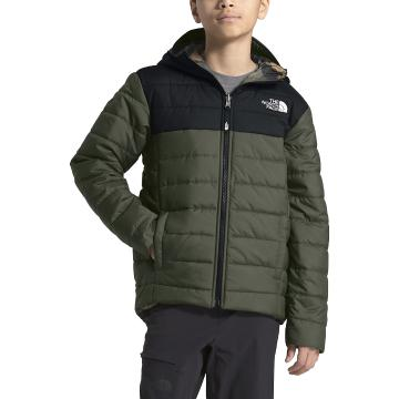 The North Face Boys Reversible Perrito Jacket - New Taupe Green/TNF Black