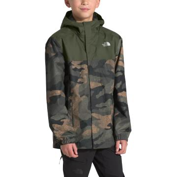 The North Face Boys Reflective Jacket - British Khaki Waxed Camo Print