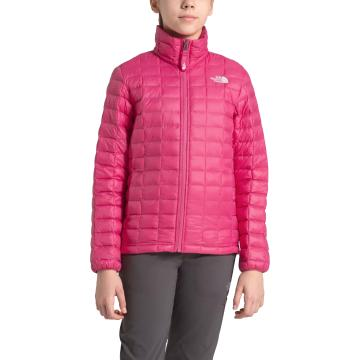 The North Face Girls Thermoball Eco Full Zip Jacket - Mr. Pink