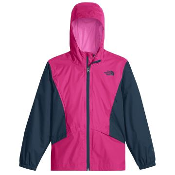 The North Face Girls Zipline Rain Jacket - Petticoatpnk/Bluewingteal