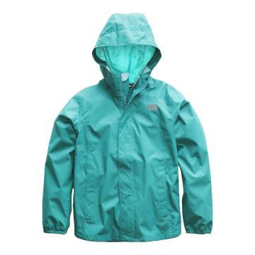 The North Face Girls Resolve Reflective Jacket - Kokomo Green