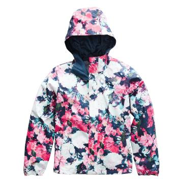 The North Face Girls Resolve Reflective Jacket - Atomic Pink Digi Floral Print