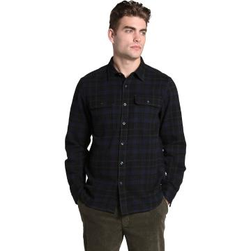 The North Face Men's Arroyo Flannel Shirt - Scarab Grn Heritage Med 3 Colo