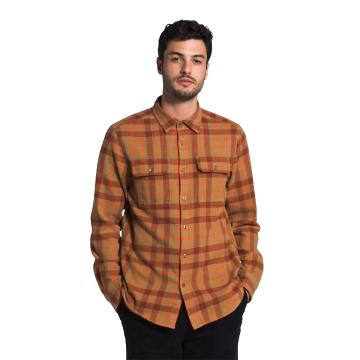 The North Face Men's Arroyo Flannel Shirt - Utility Brwn Heritage Med 3 Co
