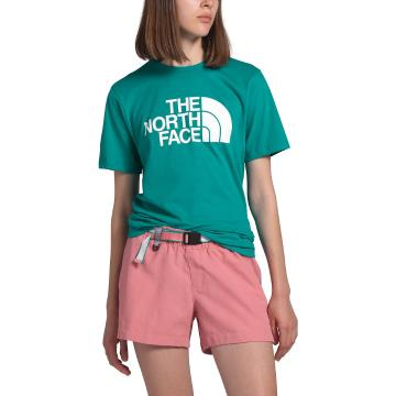 The North Face Women's Short Sleeve Half Dome Cotton Tee - Jaiden Green