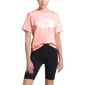 The North Face Women's Short Sleeve Half Dome Cotton Tee - Impatiens Pink