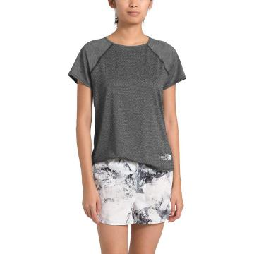 The North Face Women's Active Trail Jacquard Short Sleeve - TNF Dark Grey Heather