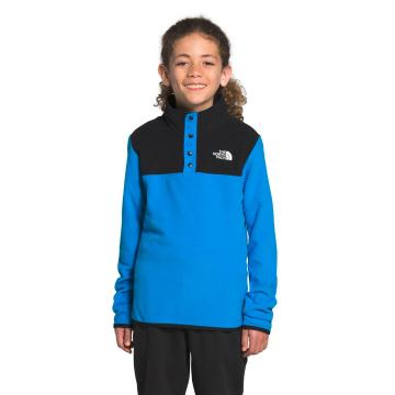The North Face Youth Glacier ¼ Snap Pullover - Clear Lake Blue