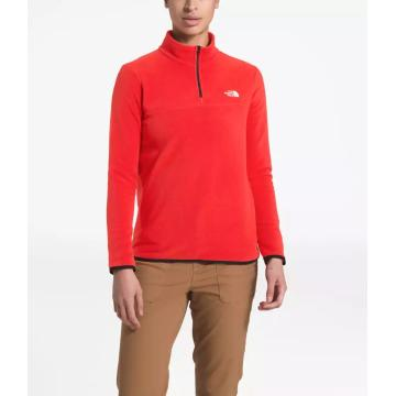 The North Face Women's TKA Glacier 1/4 Zip Pullover - Fiery Red/Fiery Red