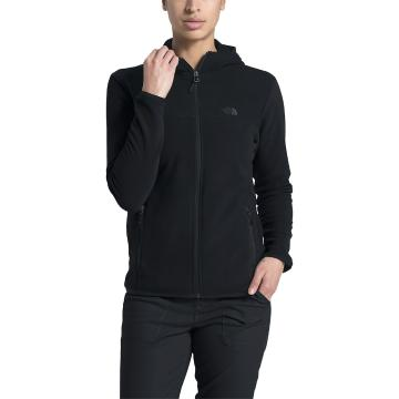 The North Face Women's TKA Glacier Full Zip Hoody - TNF Black/TNF Black
