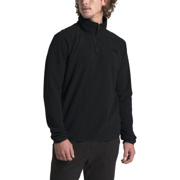 The North Face Men's TKA Glacier 1/4 Zip Pullover - TNF Black/TNF Black